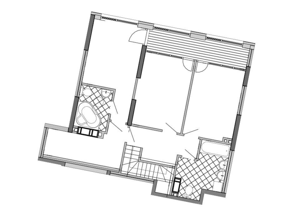 Планировка многоуровневой квартиры в ЖК Great 163.4 м², фото 226770