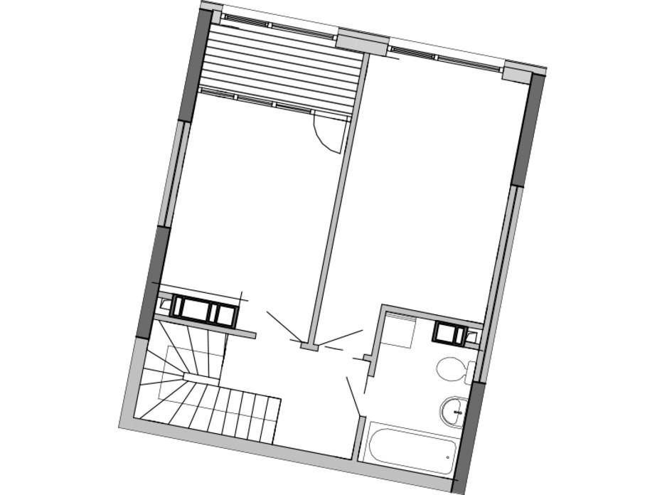 Планировка многоуровневой квартиры в ЖК Great 89.17 м², фото 226772