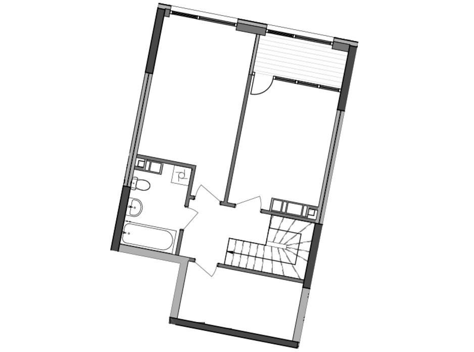 Планировка многоуровневой квартиры в ЖК Great 97 м², фото 226776