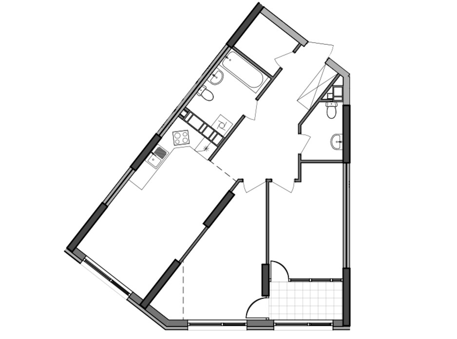 Планування 2-кімнатної квартири в ЖК Great (Грейт) 75.18 м², фото 226783