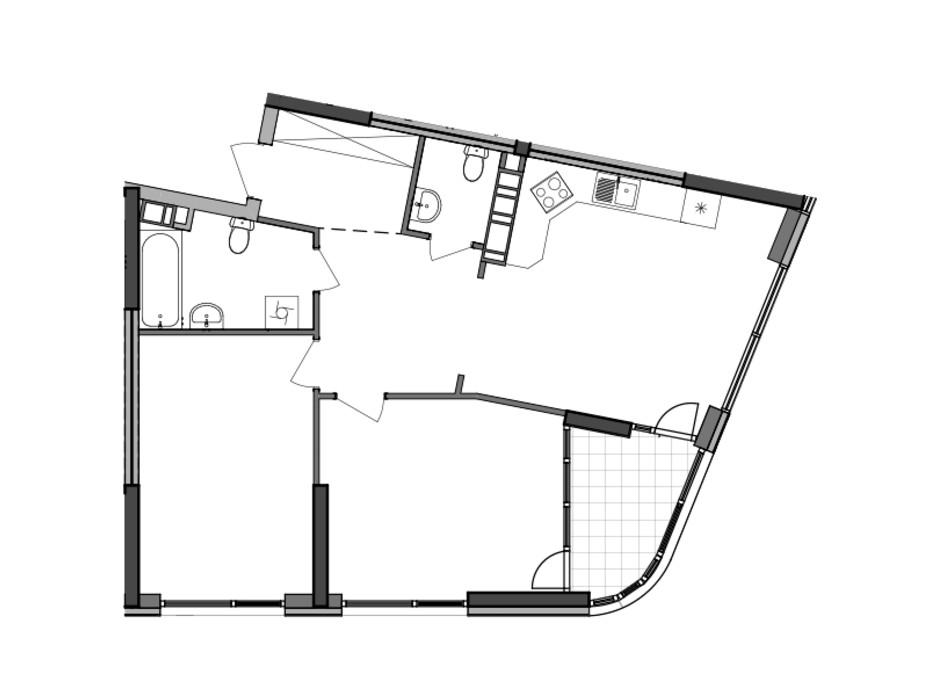 Планировка 2-комнатной квартиры в ЖК Great (Грейт) 78.62 м², фото 226786