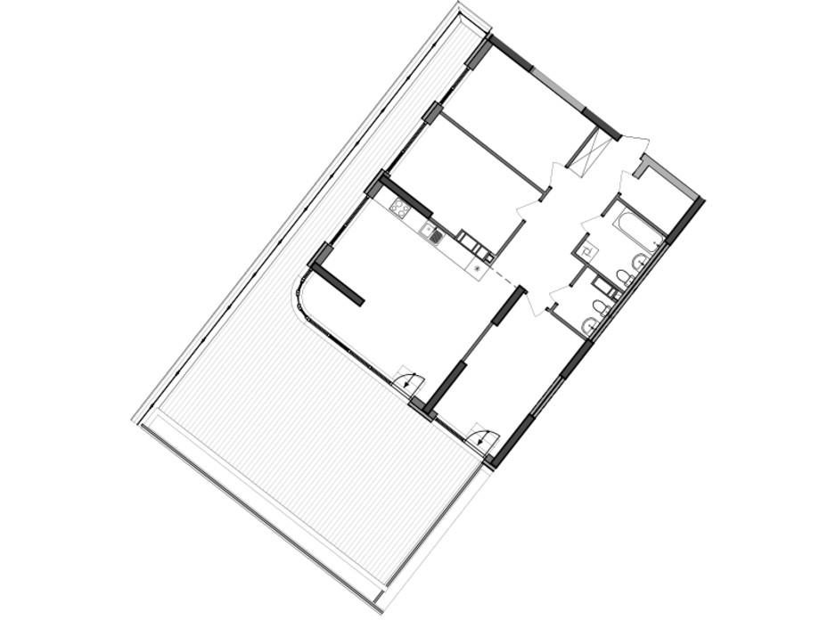 Планировка 3-комнатной квартиры в ЖК Great 117.79 м², фото 226797