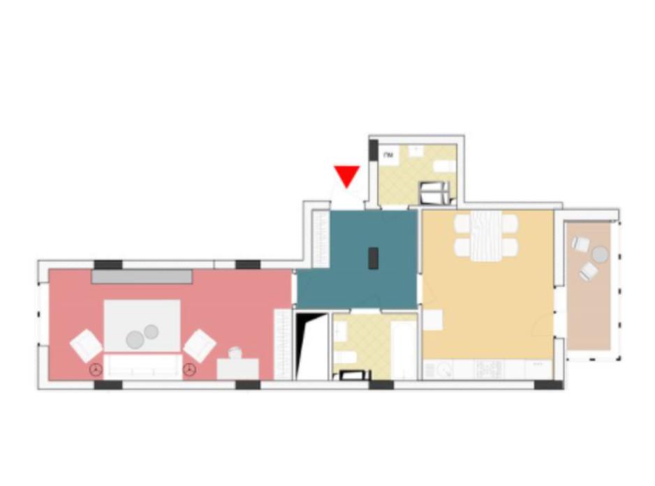 Планування 1-кімнатної квартири в ЖК Wellspring 60.67 м², фото 227268