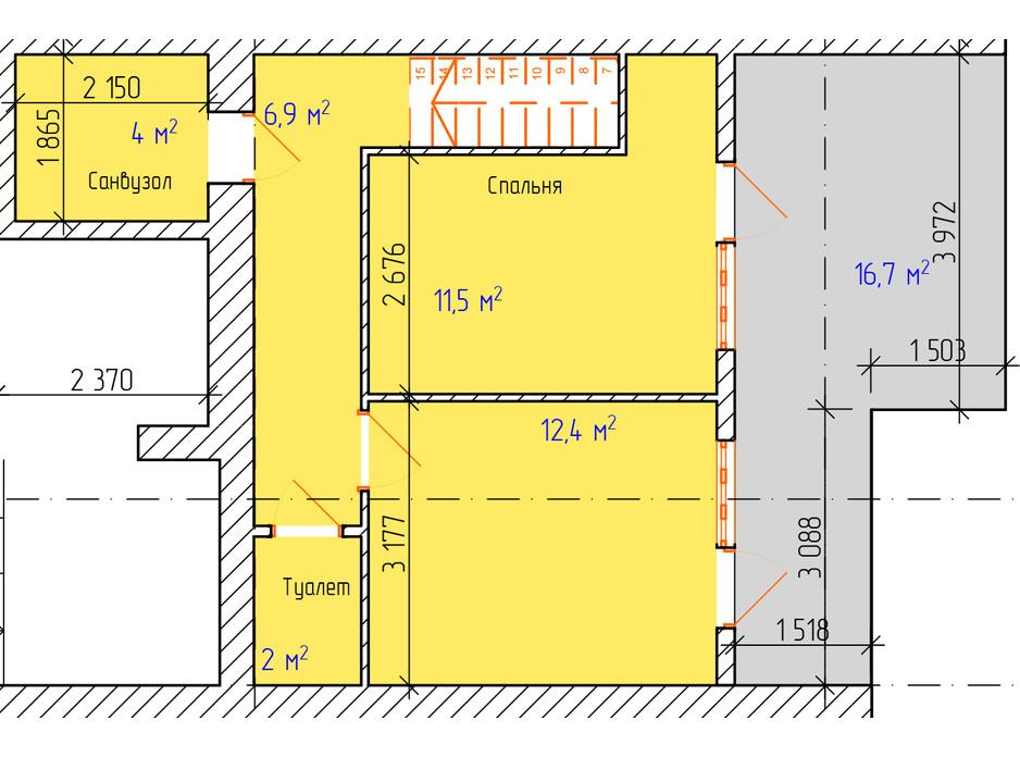 Планировка многоуровневой квартиры в ЖК Dream Park 86.9 м², фото 229334