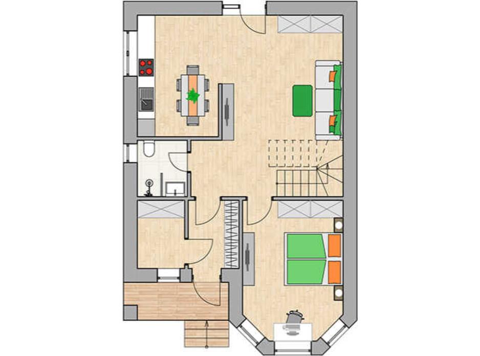 Планування котеджу в КМ Green city 131.33 м², фото 230762