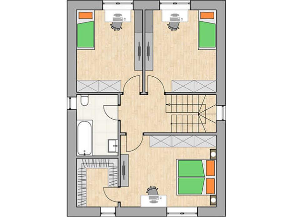 Планування котеджу в КМ Green city 131.33 м², фото 230764