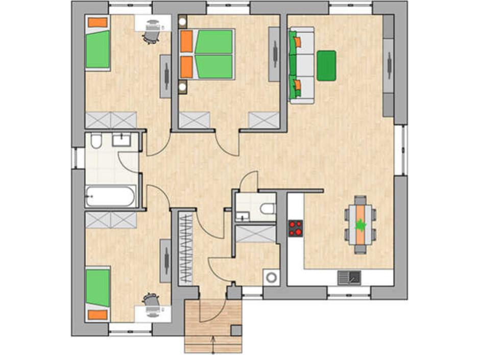 Планування котеджу в КМ Green city 102.04 м², фото 230767