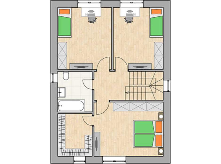 Планировка коттеджа в КГ Green city 131.33 м², фото 230772