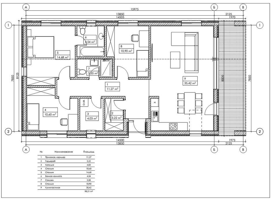 Планування котеджу в КМ Mulberry Homes 100 м², фото 234044