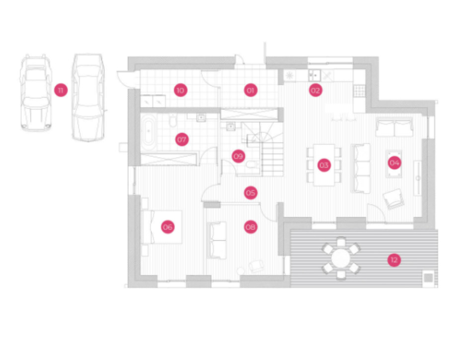 Планировка коттеджа в КГ Mulberry Homes 175 м², фото 234050