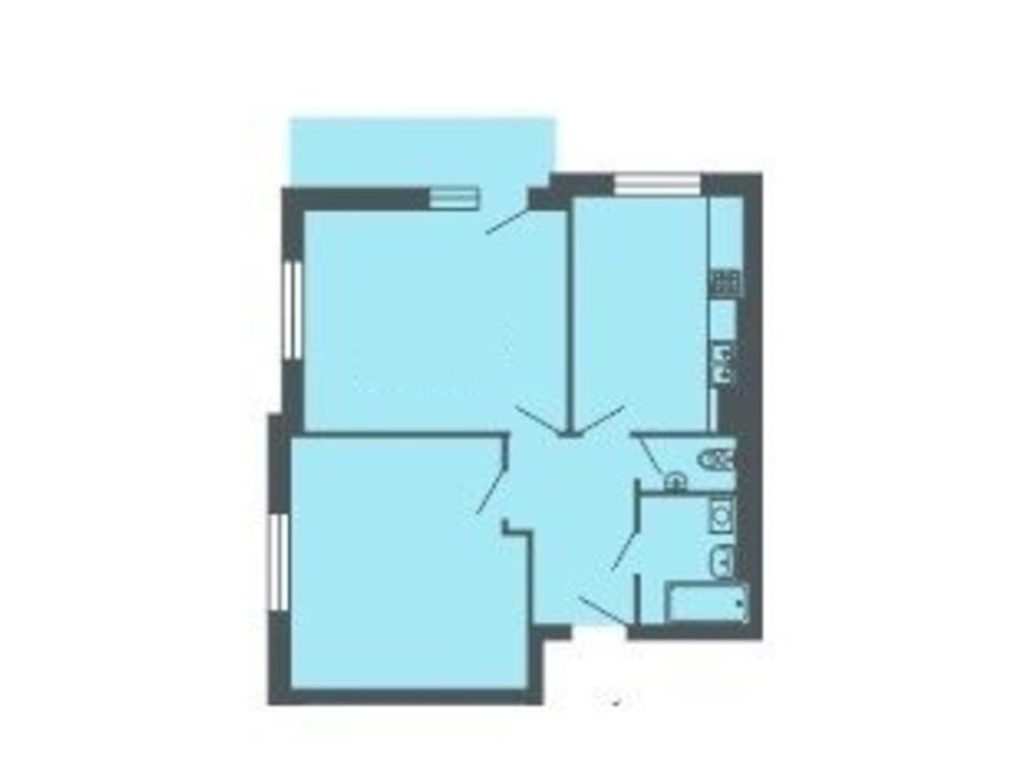 Планировка 2-комнатной квартиры в ЖК Версаль 63.8 м², фото 234932