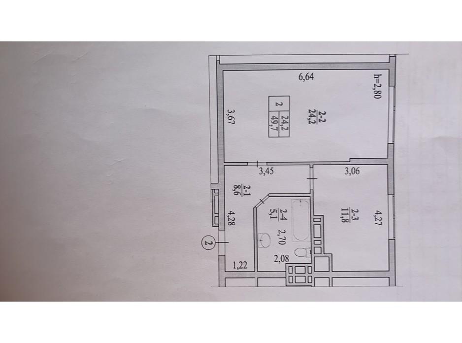 Планировка 1-комнатной квартиры в ЖК Garant City 49.7 м², фото 236071