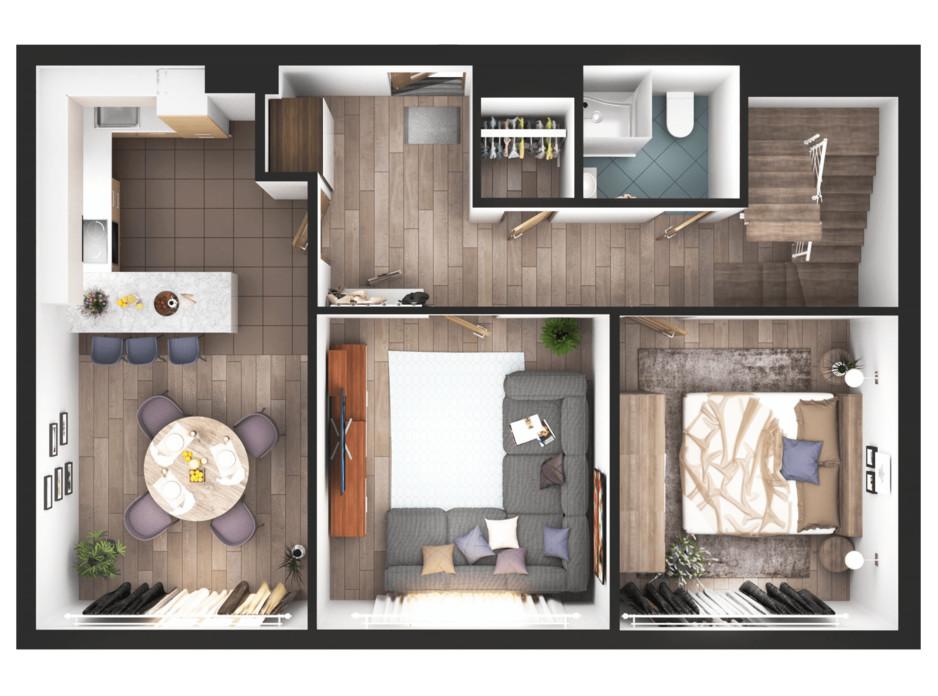 Планування 4-кімнатної квартири в ЖК Greenville Park Kyiv 182.2 м², фото 240309