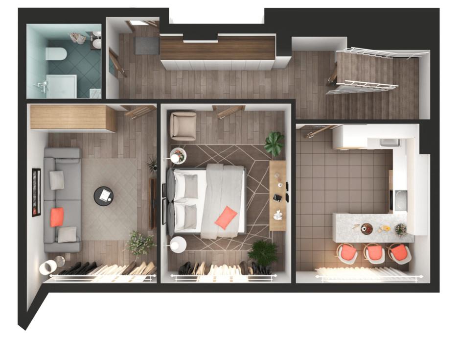 Планування 3-кімнатної квартири в ЖК Greenville Park Kyiv 154.5 м², фото 240312