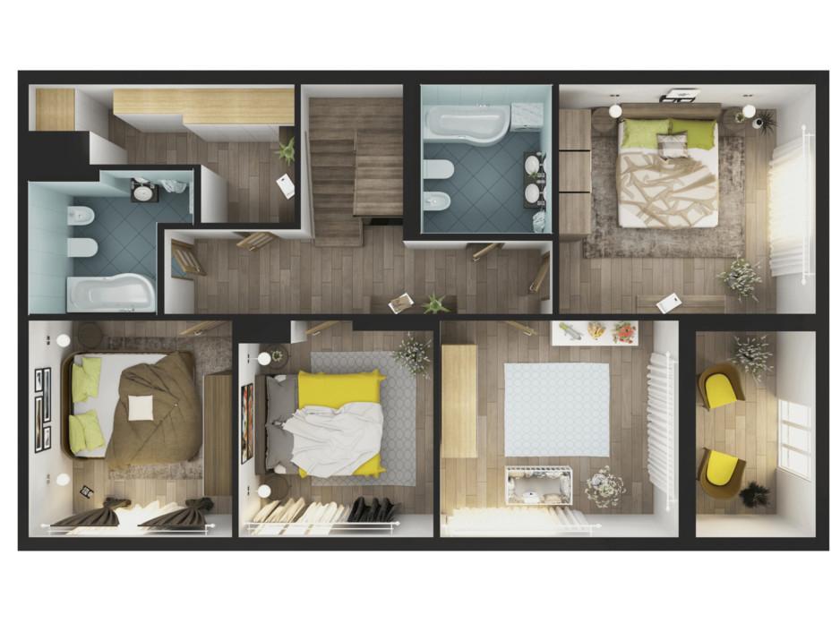 Планування 5-кімнатної квартири в ЖК Greenville Park Kyiv 238.7 м², фото 240313
