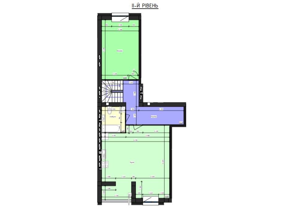 Планировка многоуровневой квартиры в ЖК Парус 151.73 м², фото 240877
