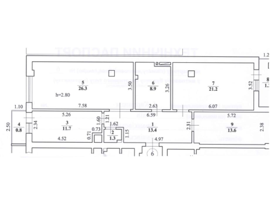 Планировка 3-комнатной квартиры в ЖК ул. Карпинца, 9А 98.4 м², фото 241727