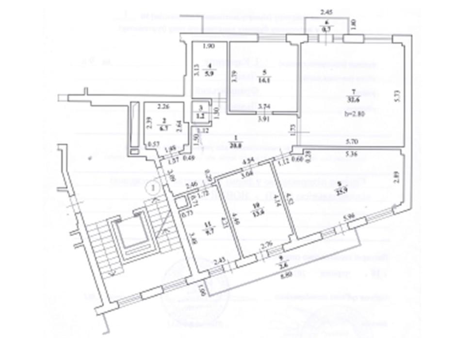Планировка 4-комнатной квартиры в ЖК ул. Карпинца, 9А 133 м², фото 241728