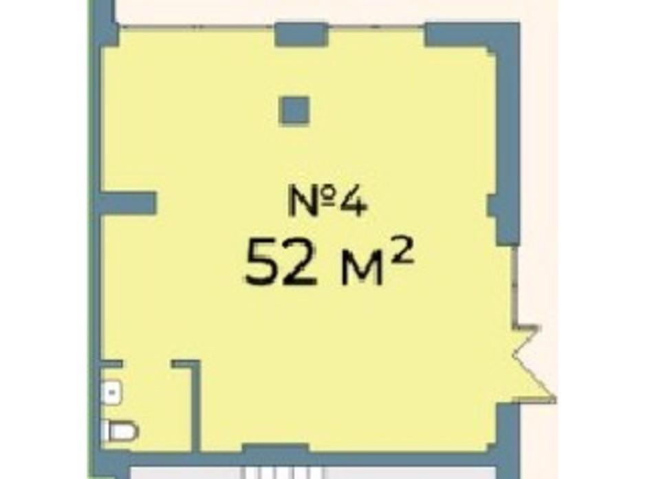 Планування приміщення в ЖК Kyiv Sky 52 м², фото 242074