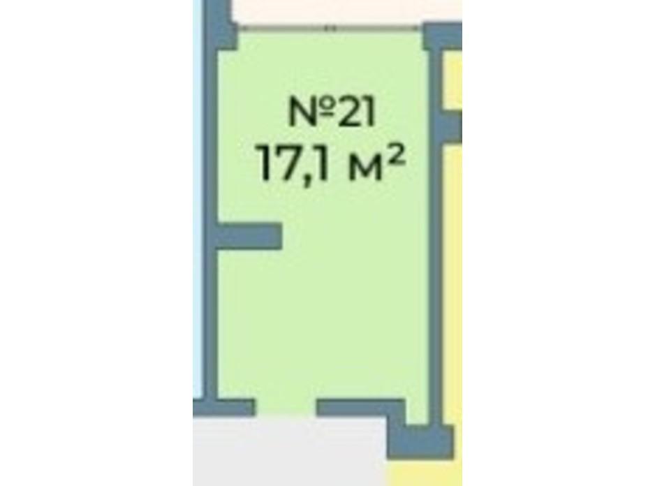 Планування приміщення в ЖК Kyiv Sky 17.1 м², фото 242084