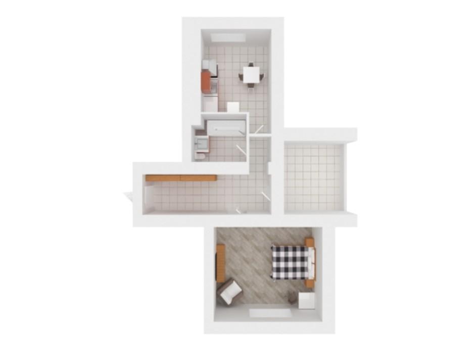 Планування 2-кімнатної квартири в ЖК Сади Вишневі 58 м², фото 242378