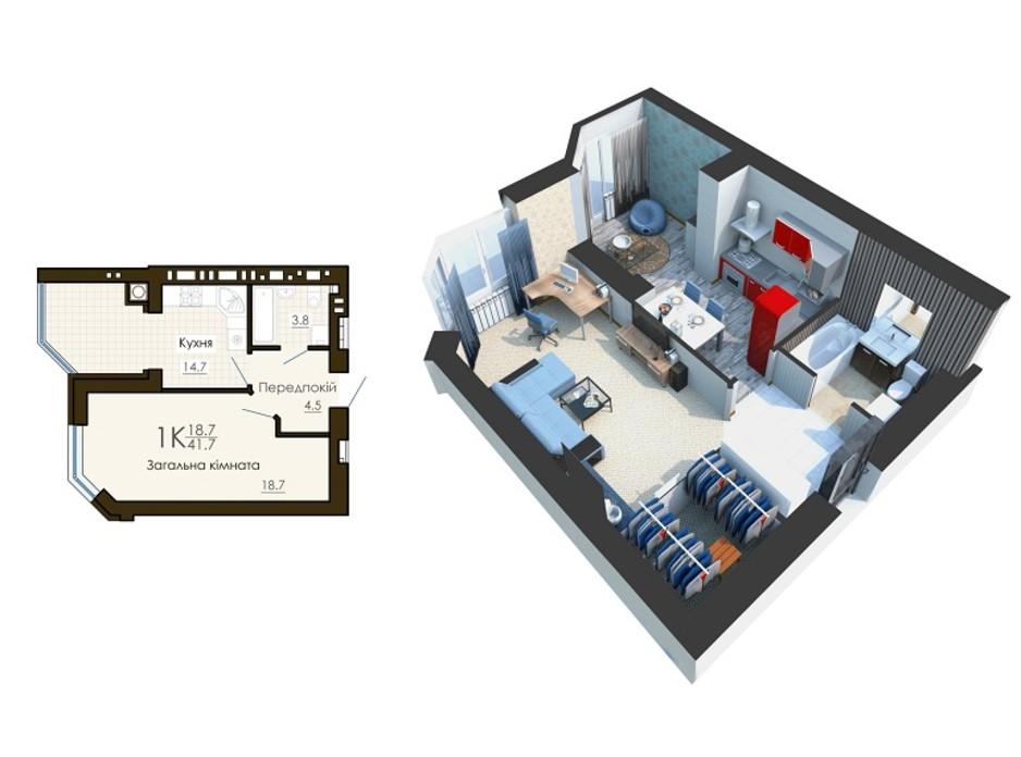 ЖК Sofia Residence планировка 5