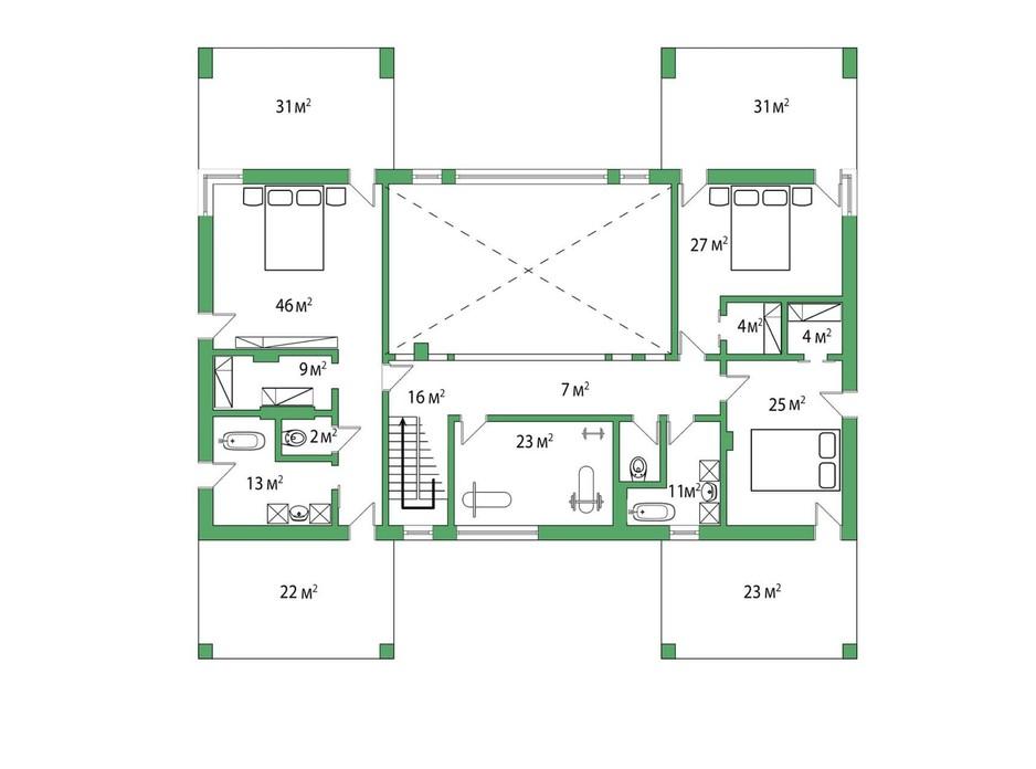 Планировка коттеджа в КГ Белгравия 485 м², фото 254650