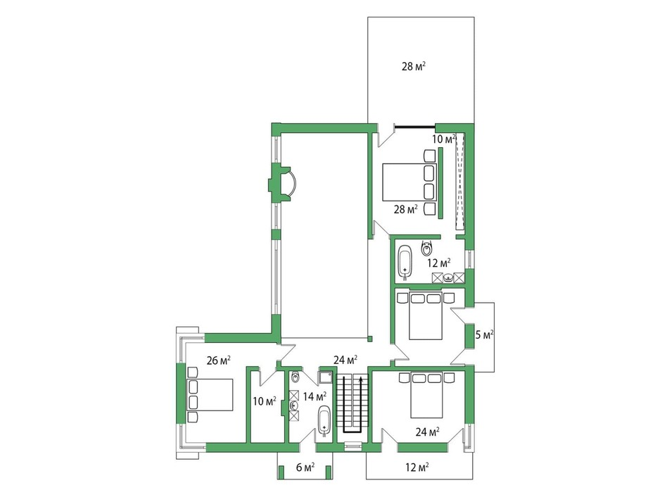 Планировка коттеджа в КГ Белгравия 445 м², фото 254652