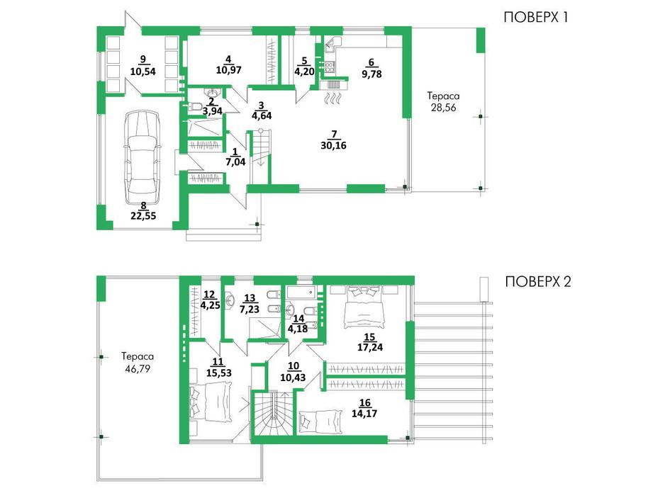 Планировка коттеджа в КГ Белгравия 177 м², фото 254712