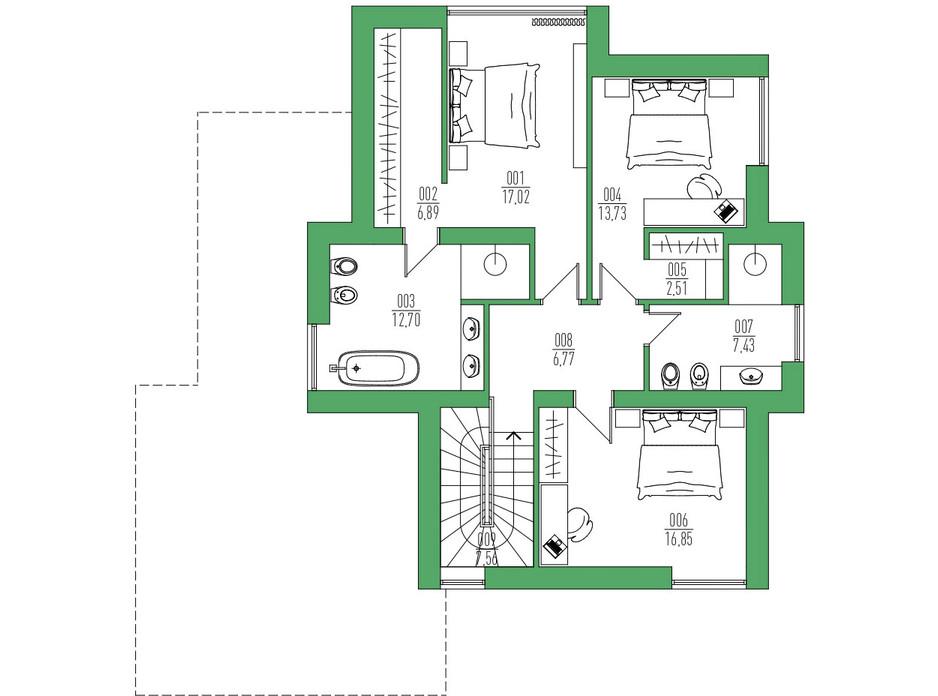 Планировка коттеджа в КГ Белгравия 236 м², фото 254720