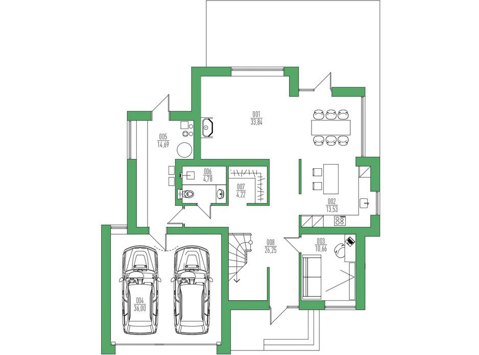 Планировка коттеджа в КГ Белгравия 236 м², фото 254721