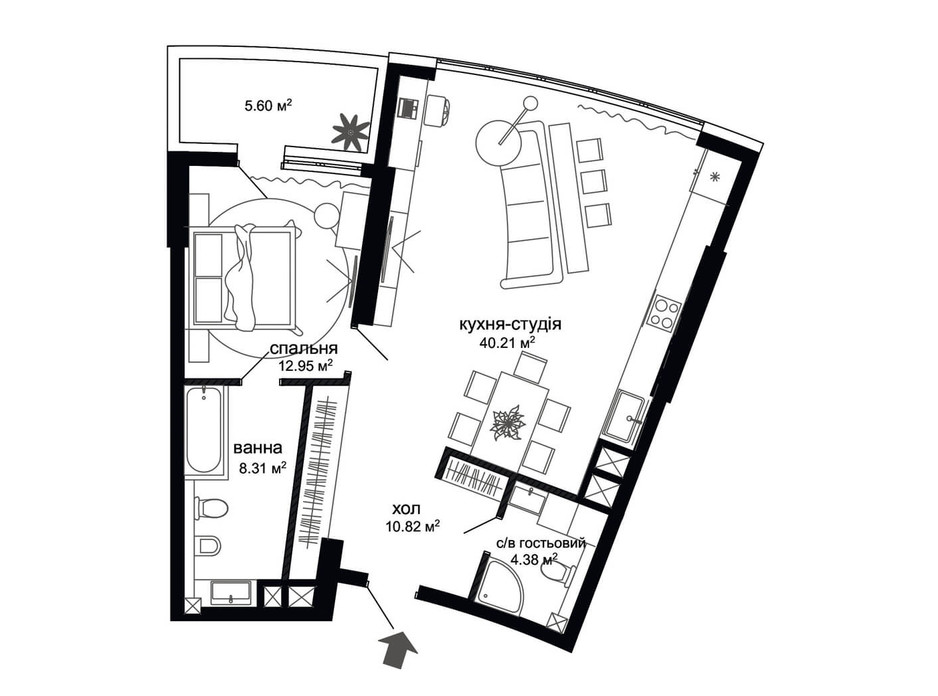 ЖК Busov Hill планировка 9