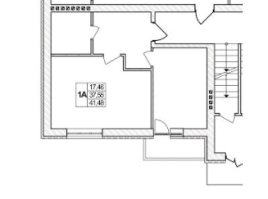 Планування 1-кімнатної квартири в ЖК Озерний 41.48 м², фото 257708