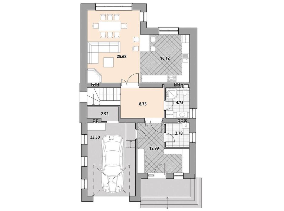 Планировка коттеджа в КГ Провесинь 198.71 м², фото 257994