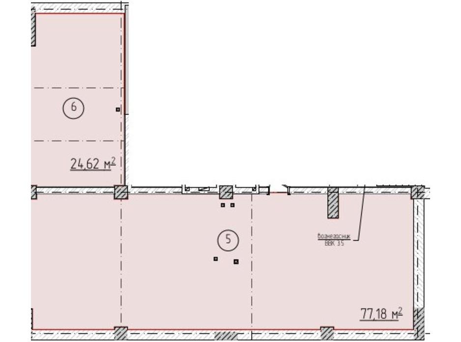 Планировка помещения в ЖК Олимп 77.18 м², фото 258178