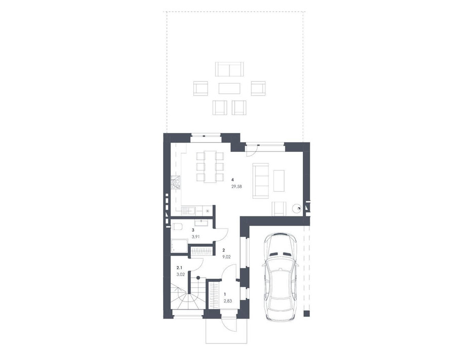 Планировка коттеджа в ЖК Липові Роси 112.68 м², фото 262554