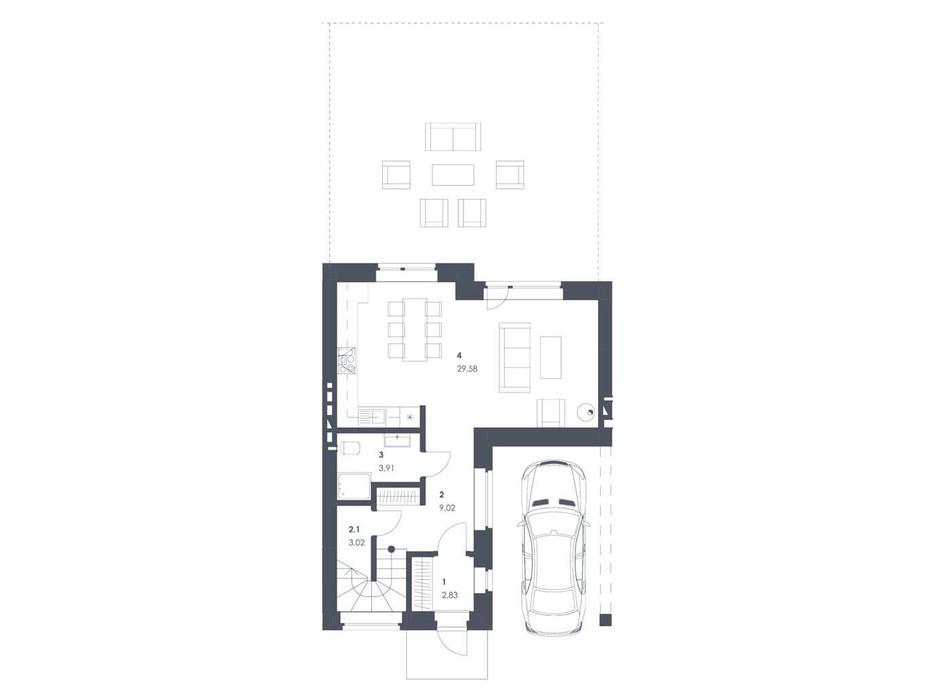 Планировка коттеджа в ЖК Липові Роси 112.68 м², фото 262565