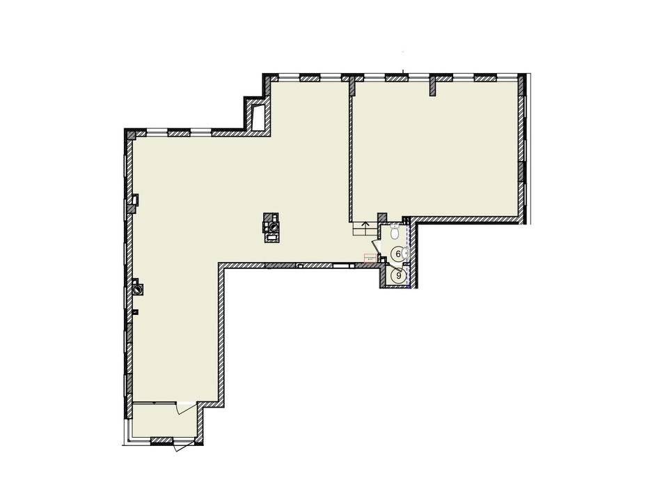 Планировка помещения в КД На Кондукторской 146.39 м², фото 264049
