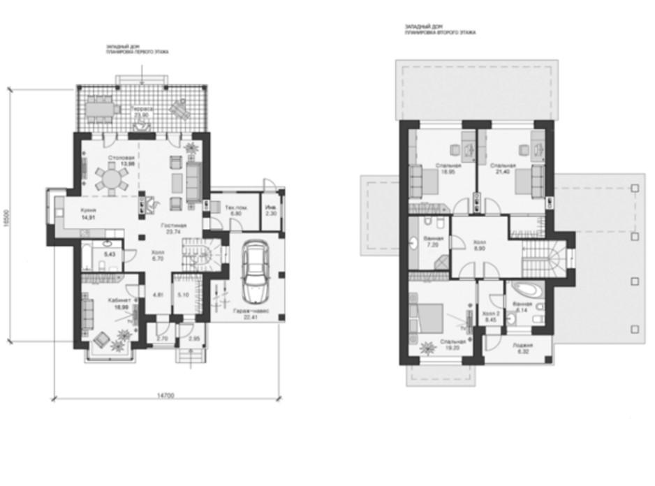 Планировка коттеджа в КГ Парк Хаус (Park House) 230 м², фото 26883