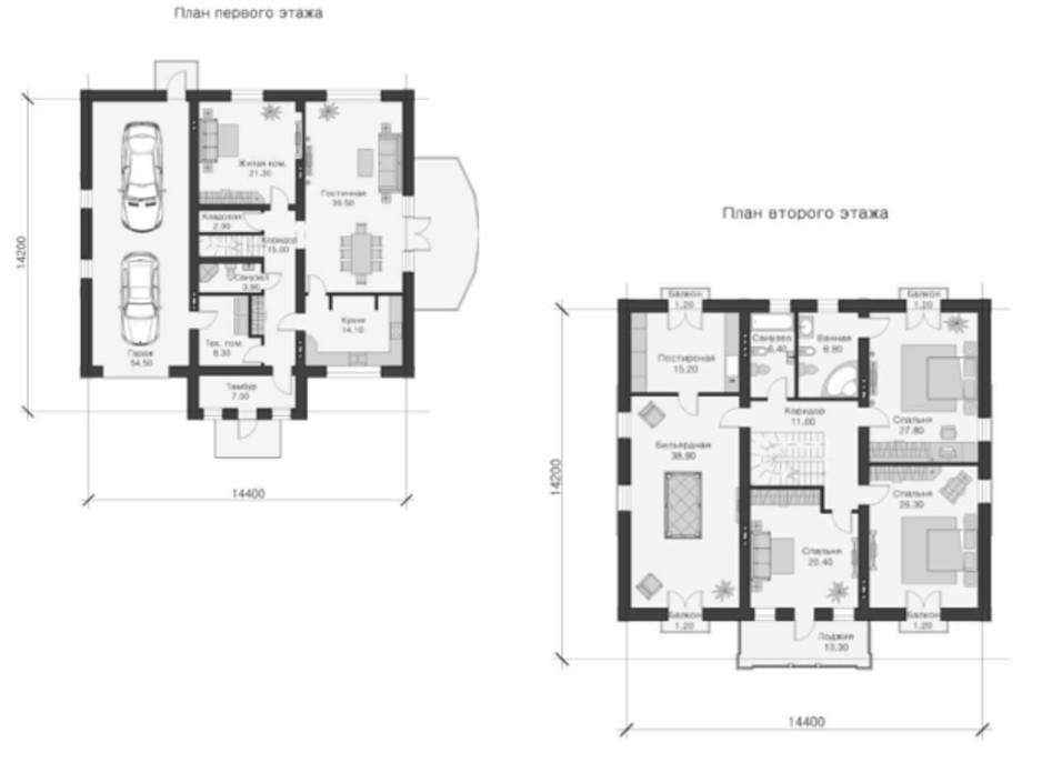 Планування котеджу в КМ Парк Хаус 330 м², фото 26884