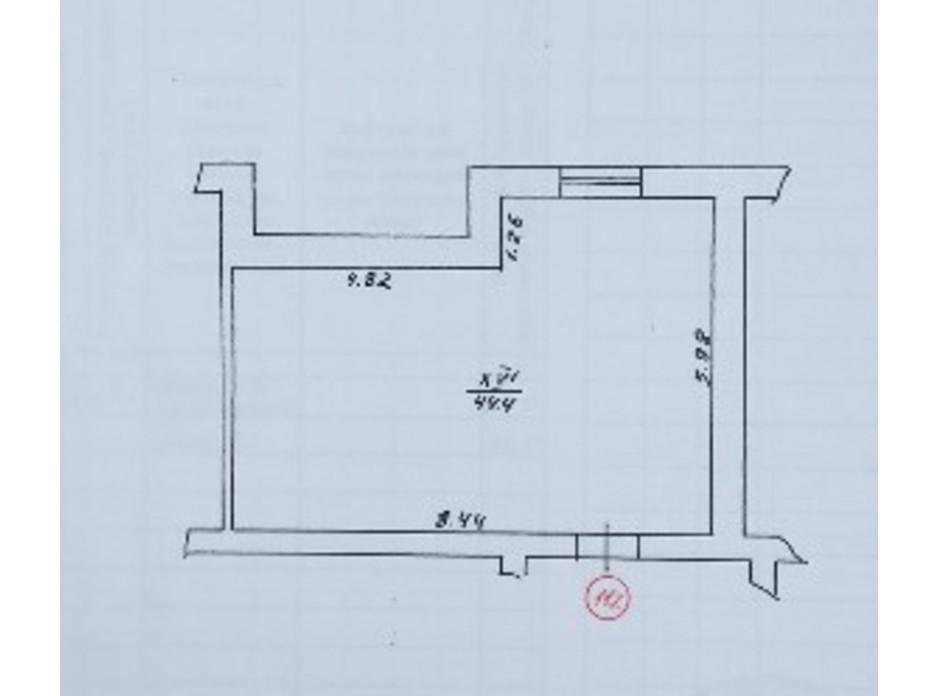 Планировка помещения в ЖК по ул. Скоропадского 44.4 м², фото 269398