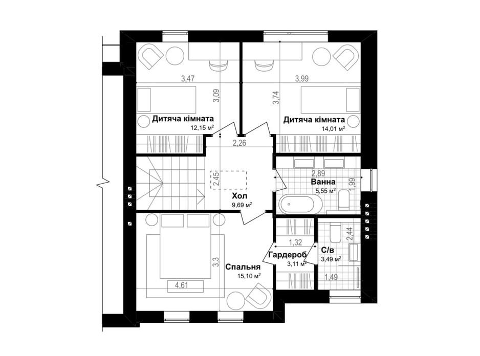 Планировка таунхауса в Таунхаус Smart & Green (Смарт энд Грин) 120.7 м², фото 269570