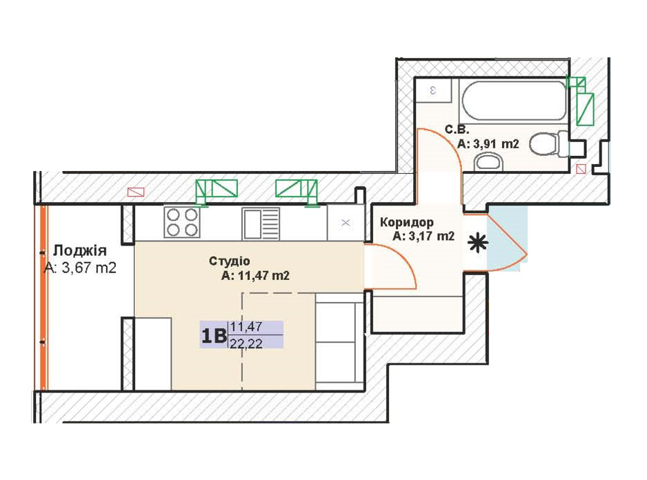 ЖК Модуль планировка 6