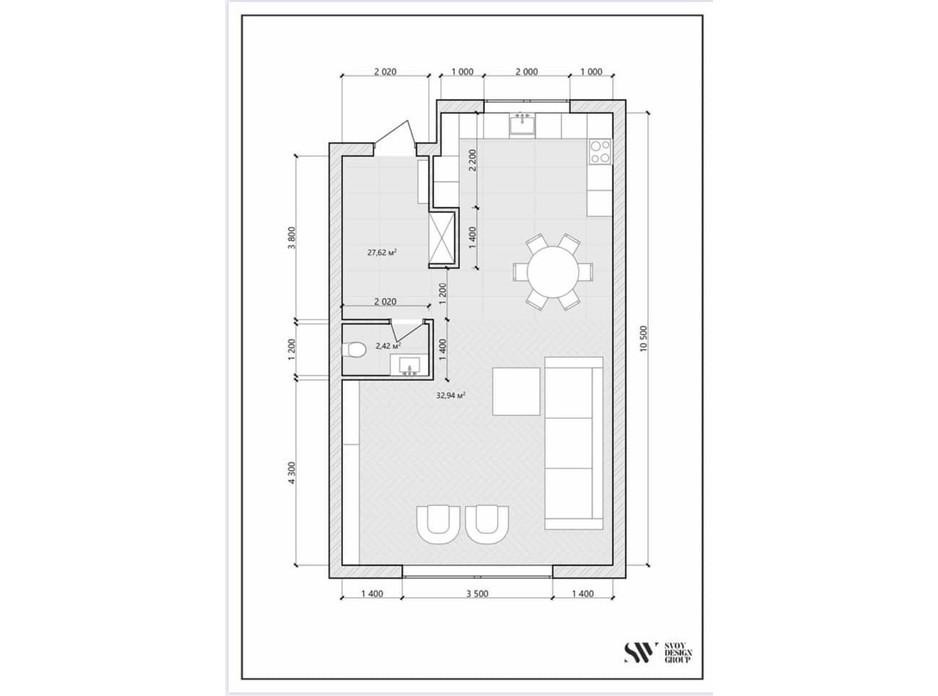 Планировка многоуровневой квартиры в КГ Малиновый 120 м², фото 271376