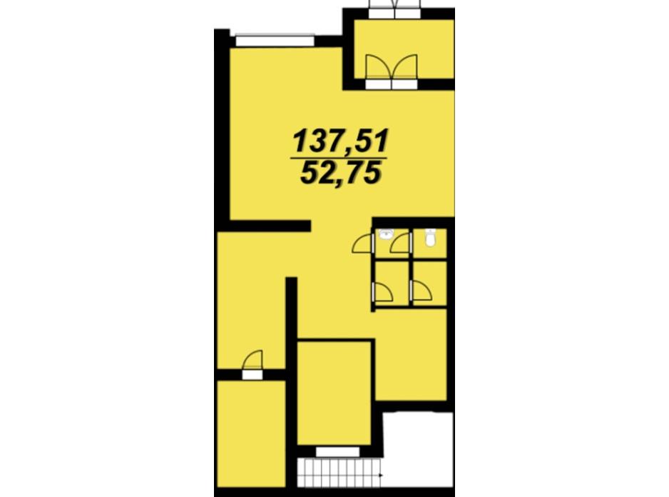 Планування приміщення в ЖК Сагайдачний 124.1 м², фото 272933