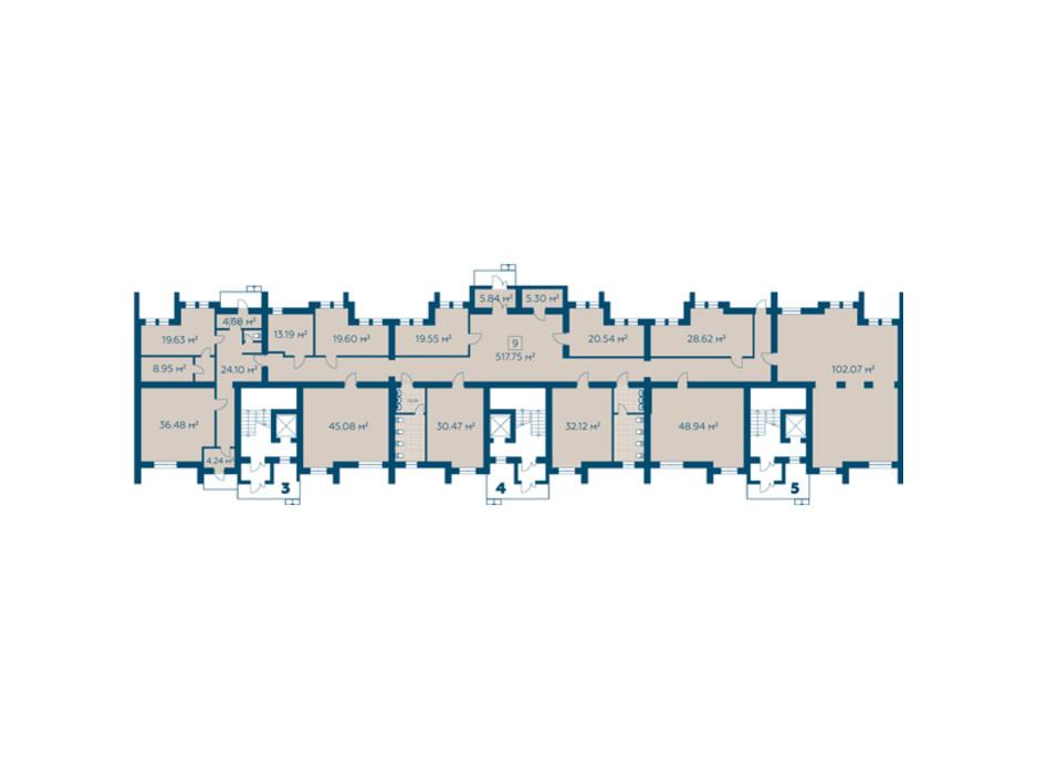 Планировка помещения в ЖК Киевский 517.75 м², фото 274927