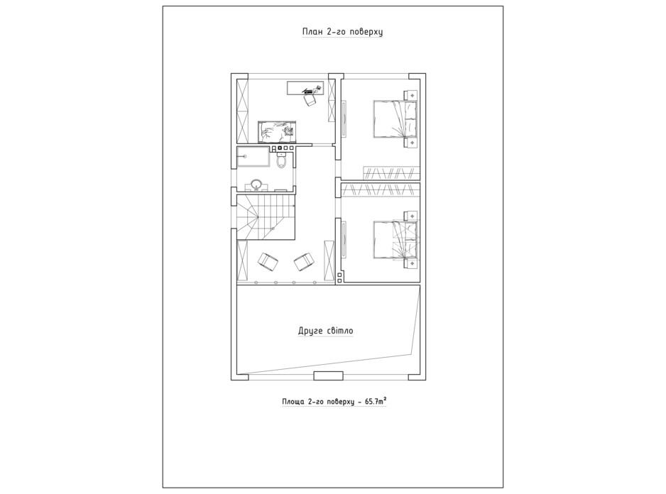 Планировка коттеджа в КГ Солнечный склон 151.7 м², фото 282400