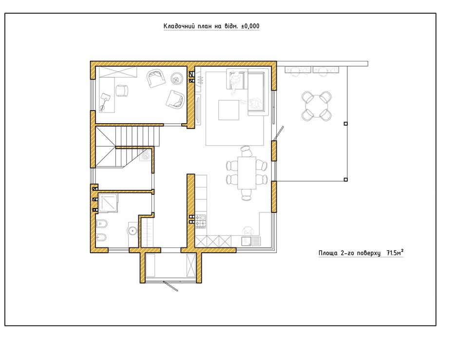 Планировка коттеджа в КГ Солнечный склон 145.5 м², фото 282414