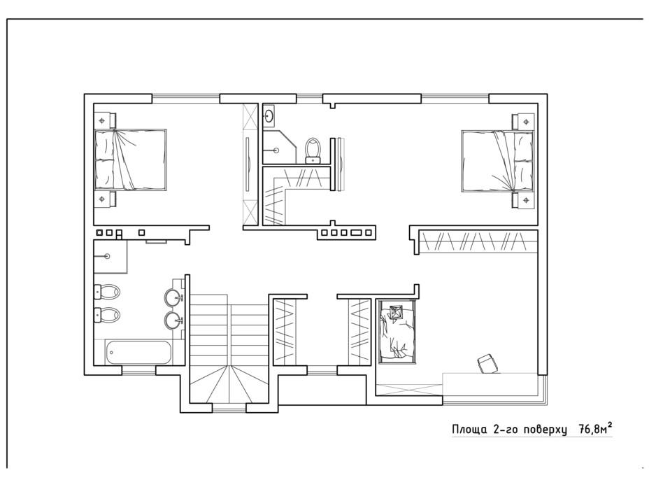 Планировка коттеджа в КГ Солнечный склон 152.7 м², фото 282425