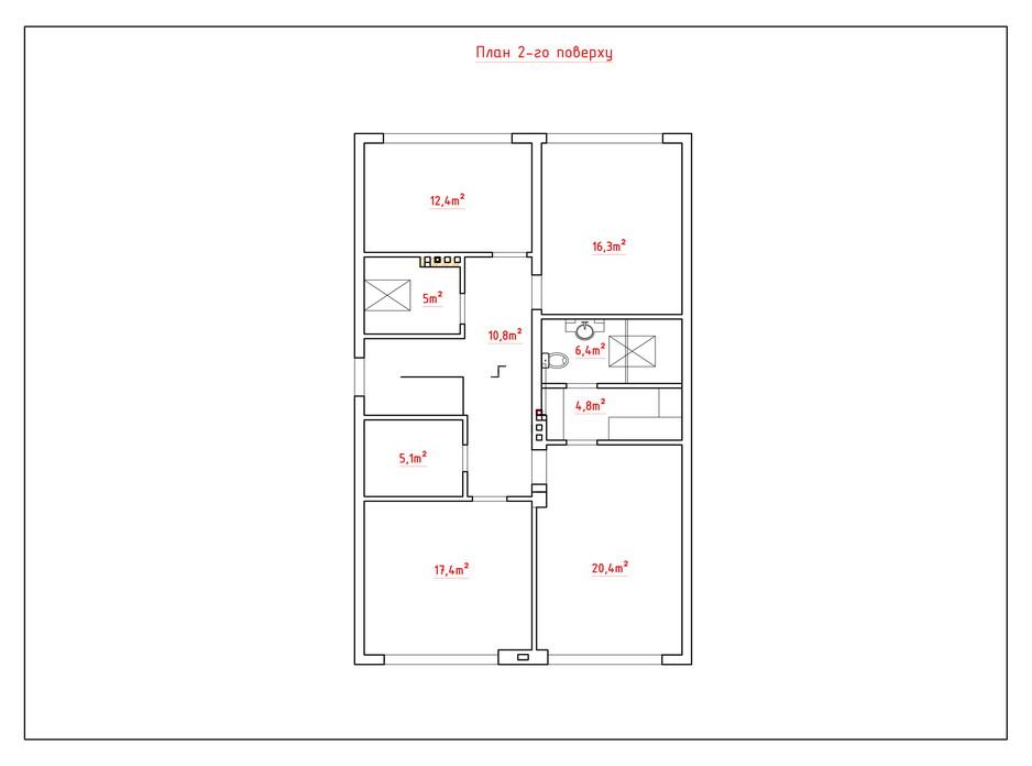 Планировка коттеджа в КГ Солнечный склон 190.2 м², фото 282447
